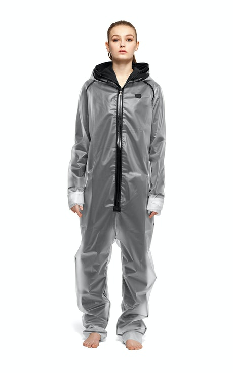 Onepiece Rain Jumpsuit Transparent frosted