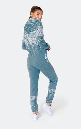 Onepiece Alpine Jumpsuit Faded Blue Mel