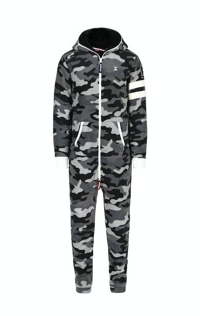 Onepiece Alps Camo Fleece Jumpsuit Noir