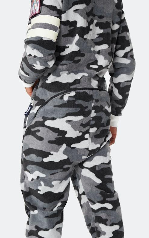 Onepiece Alps Camo Fleece Jumpsuit Schwarz