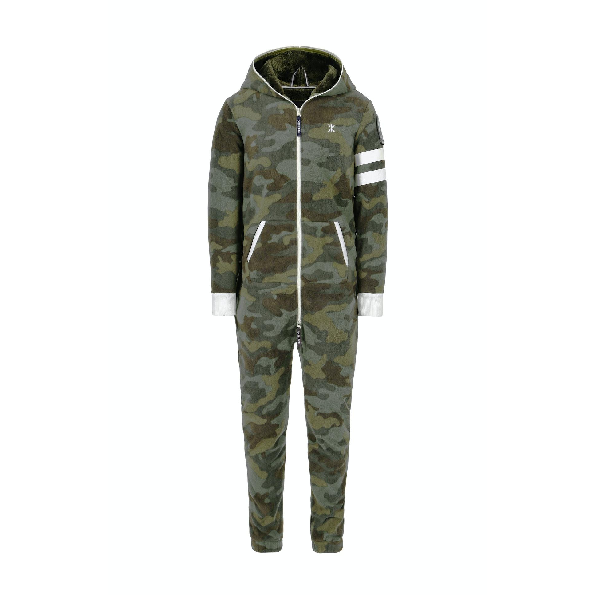 alps camo fleece jumpsuit army