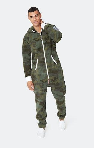 Onepiece Alps Camo Fleece Jumpsuit Army Grün