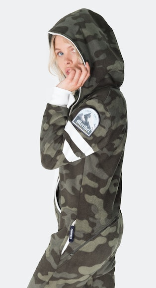 Onepiece Alps Camo Teddy Jumpsuit Army
