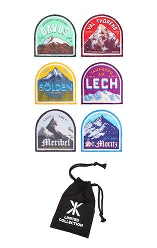 Onepiece Alps Print Jumpsuit Burgundy