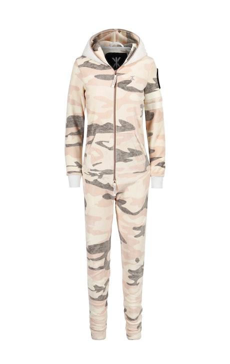 Onepiece Alps Soft Velvet Jumpsuit Rosa Camouflage