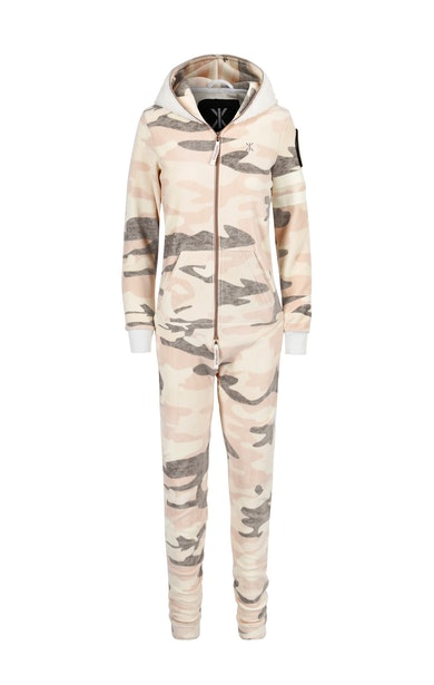 Onepiece Alps Soft Velvet Jumpsuit Rose camouflage