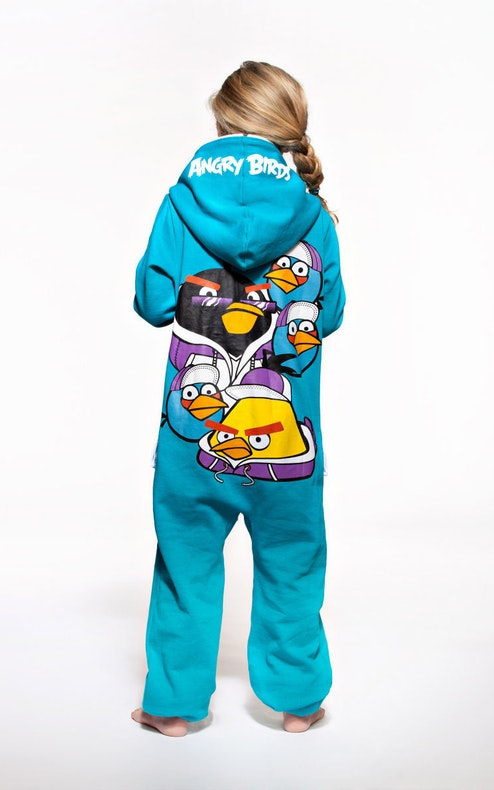 Onepiece Angry Birds Onesie Light Blue
