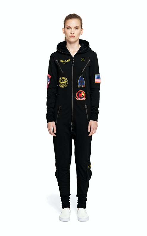 aviator onesie noir combinaison slim onepiece fr. Black Bedroom Furniture Sets. Home Design Ideas