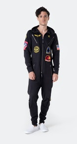 Onepiece Aviator Onesie Black