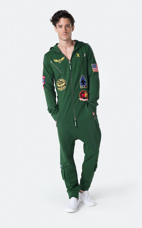 aviator onesie jungle green