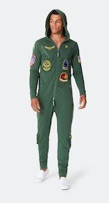 Onepiece Aviator Onesie Jungle Green