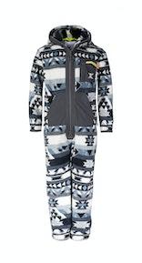 Onepiece Aztec KIDS Fleece Jumpsuit Black/white