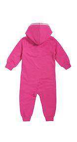 Onepiece Baby Jumpsuit Raspberry Melange