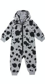 Onepiece Baby Jumpsuit Spot Grey Melange