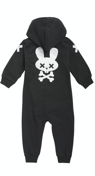 Onepiece Baby Jumpsuit Trouble Black