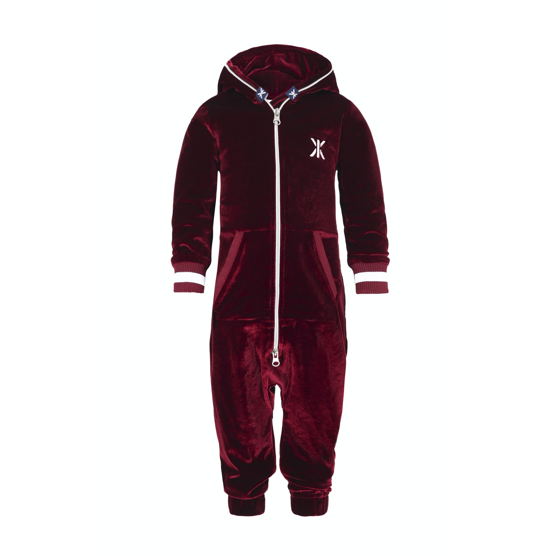161f66753bcd Baby Velour Jumpsuit Red