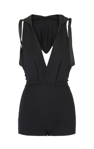 Onepiece Bamboo Bodysuit Black