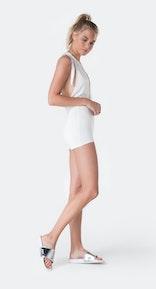 Onepiece Bamboo Bodysuit White