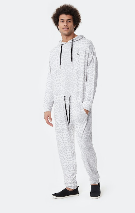 Onepiece Supersoft Bamboo Jumpsuit Noir/Blanc