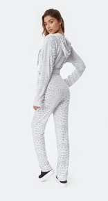 Onepiece Supersoft Bamboo Womens Jumpsuit Muted Leopard