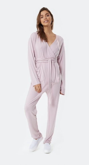 Onepiece Supersoft Bamboo Womens Jumpsuit Faded Pink