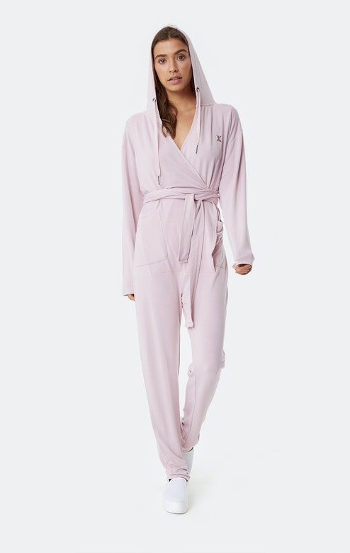 Onepiece Supersoft Bamboo Womens Jumpsuit Rose pâle