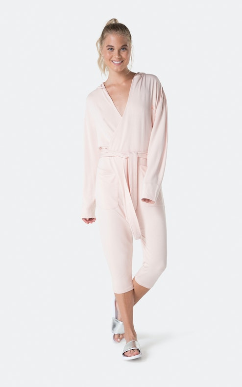 Onepiece Bamboo Womens Jumpsuit Zartes Rosa