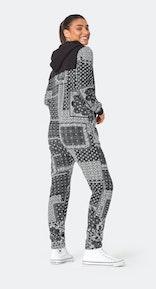Onepiece Bandana Print Jumpsuit Black