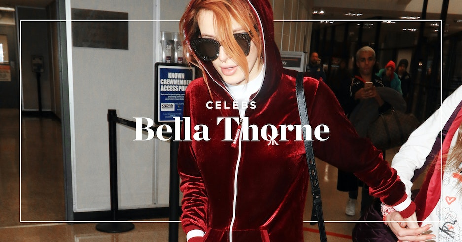 Bella Thorne wears Onepiece velour jumpsuit on her way to the Sundance Film Festival