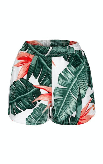 Onepiece Beverly Hills Womens shorts Off White print