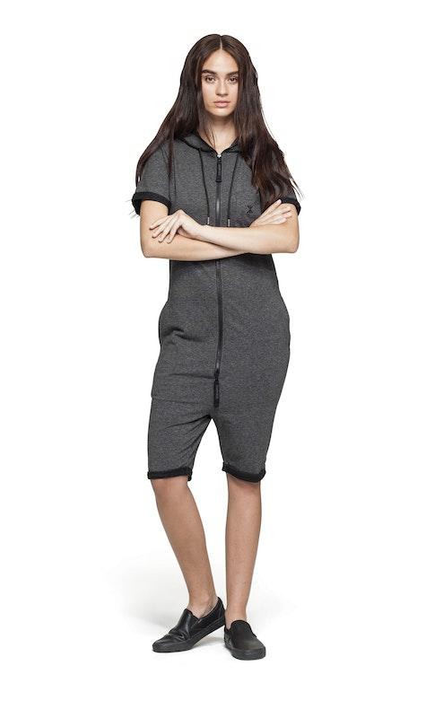 Onepiece Boombox Jumpsuit Black Mel