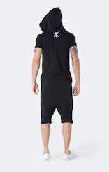 Onepiece Break Short Jumpsuit Black