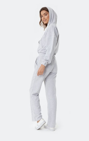 Onepiece Woke Up Like This Jumpsuit Grey Mel