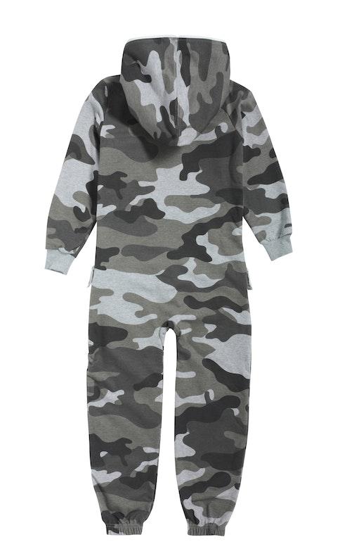 Onepiece Camouflage Kids Jumpsuit Grey Melange