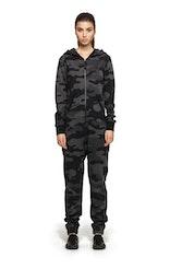 Onepiece Camouflage Jumpsuit Black