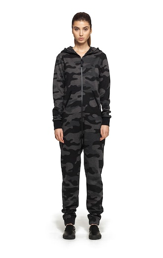 Onepiece Camouflage Jumpsuit Black