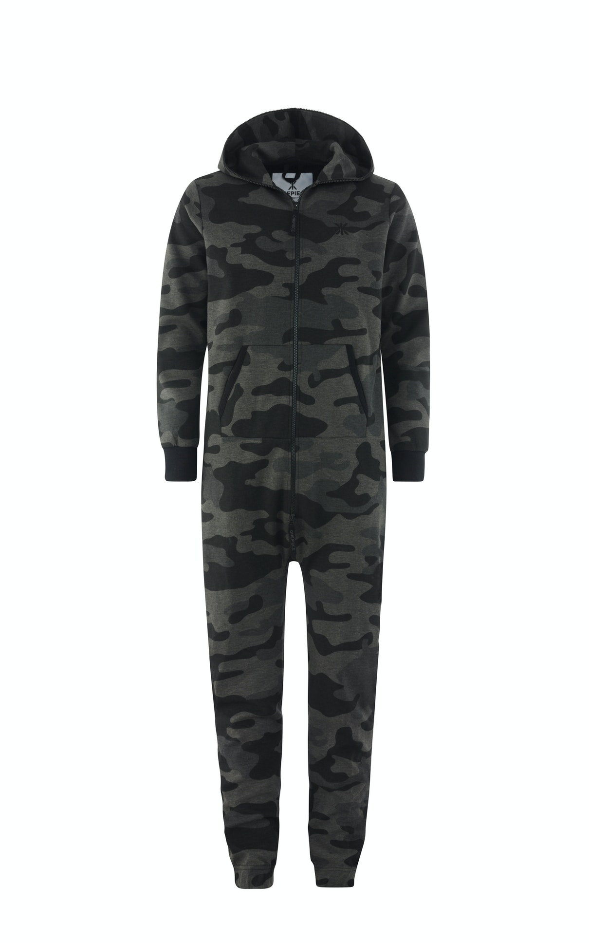 Camouflage Jumpsuit Black We've taken our classic Camouflage Jumpsuit and made it darker. Way darker. Perfect for late night Navy Seals activities...