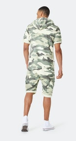 Onepiece Cargo Short Jumpsuit Army Camo