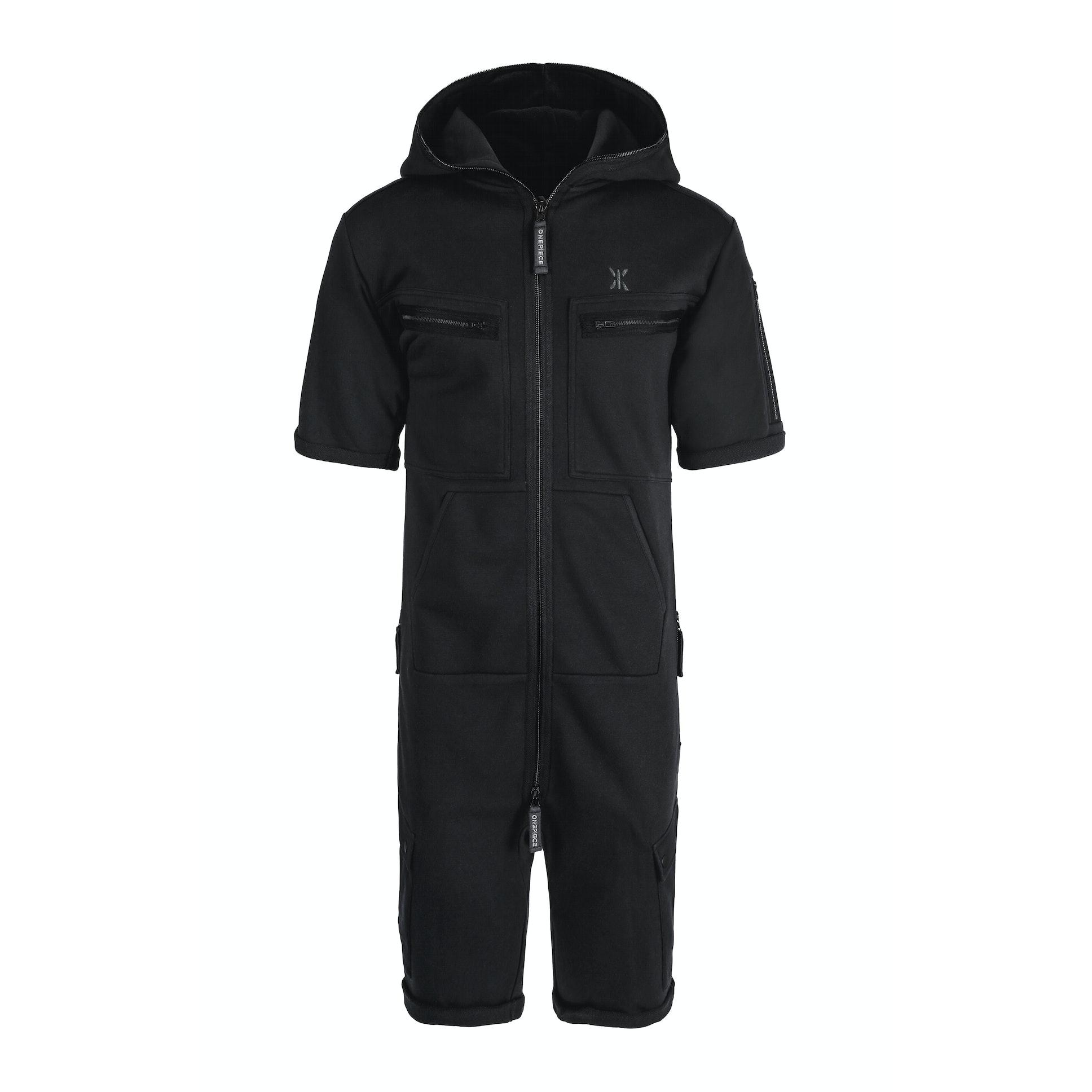 cargo short jumpsuit black