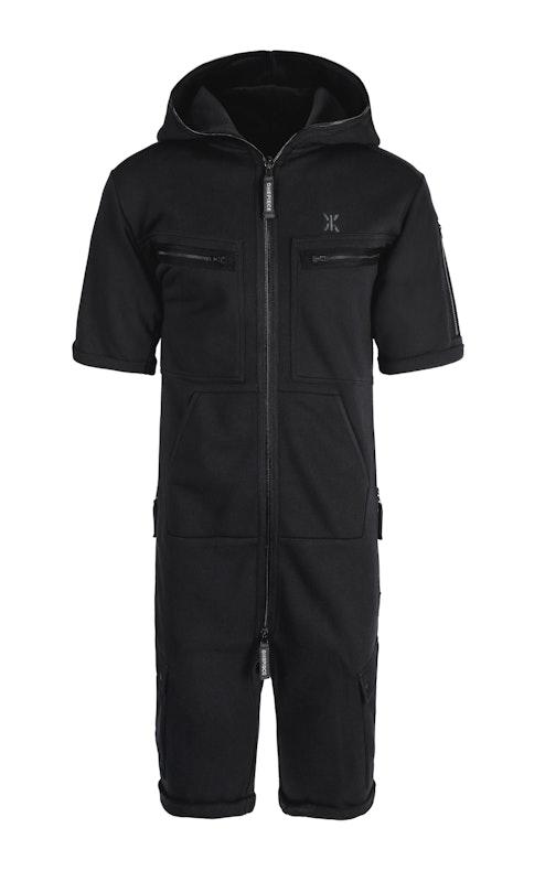Onepiece Cargo Short Jumpsuit Black