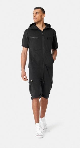Onepiece Cargo Short Jumpsuit Schwarz