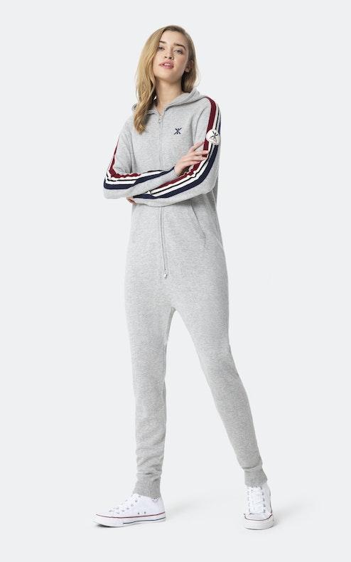 Onepiece Cashmere Jumpsuit Grey melange