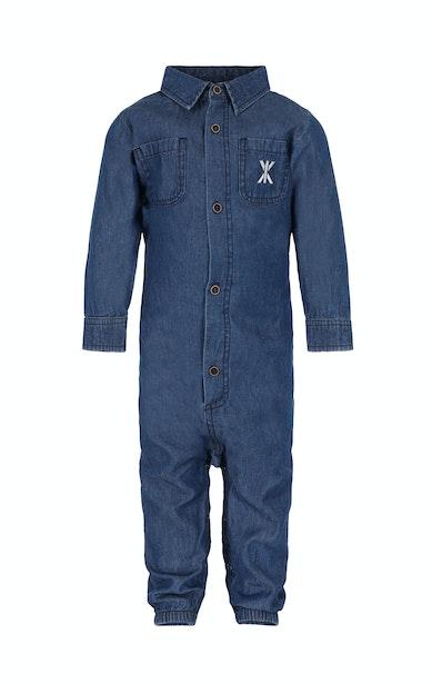 Onepiece Chambray Baby Jumpsuit Denim Blau