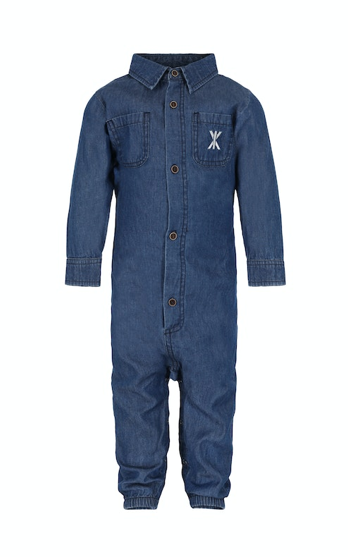 Onepiece Chambray Baby Jumpsuit Denim Blue