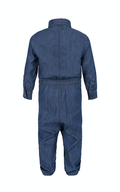 Onepiece Chambray Baby Jumpsuit Denim Blue