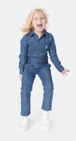 Onepiece Chambray Kids Jumpsuit Denim Blue