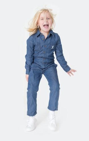 Onepiece Chambray Kids Jumpsuit Denim Blue
