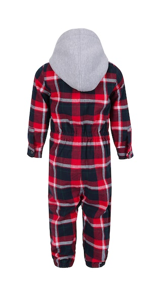 Onepiece Check Baby Jumpsuit Black / Red