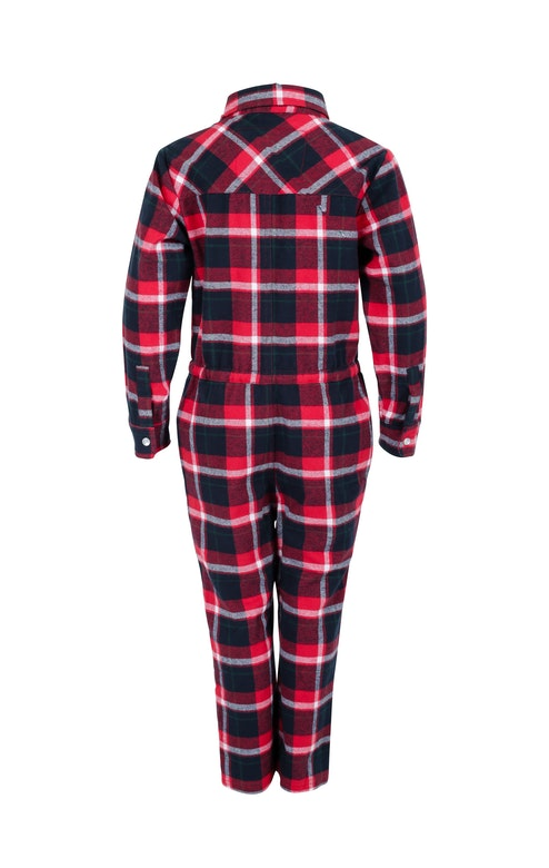 Onepiece Check Kids Jumpsuit Red / Black