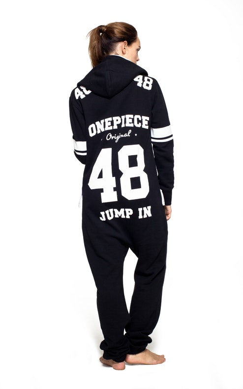 Onepiece College 48 Onesie Black